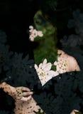 Retrato de la exposición doble Fotografía de archivo libre de regalías