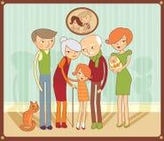 Retrato de la familia ilustración del vector