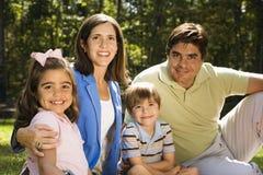 Retrato de la familia. foto de archivo