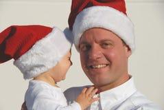 Retrato de la familia de la Navidad Imagen de archivo