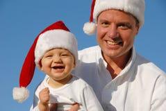 Retrato de la familia de la Navidad Fotografía de archivo libre de regalías