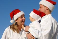 Retrato de la familia de la Navidad Fotos de archivo