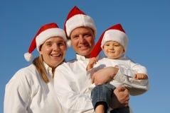 Retrato de la familia de la Navidad Foto de archivo libre de regalías