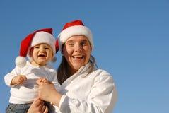 Retrato de la familia de la Navidad Fotos de archivo libres de regalías