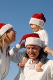Retrato de la familia de la Navidad Imagen de archivo libre de regalías