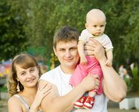Retrato de la familia feliz Imágenes de archivo libres de regalías