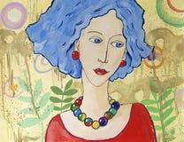 Retrato de la fantasía de la mujer imagenes de archivo