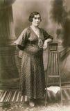 Retrato de la foto de la vendimia Foto de archivo libre de regalías