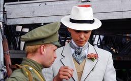 Retrato de la gente en trajes históricos Fotos de archivo libres de regalías