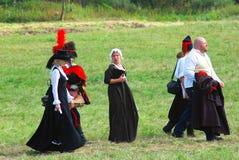 Retrato de la gente en trajes históricos Fotografía de archivo