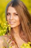 Retrato de la hembra linda Imagenes de archivo