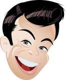 Retrato de la historieta del hombre feliz Imagen de archivo libre de regalías