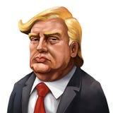 Retrato de la historieta de Donald Trump - ilustrado por Erkan Atay
