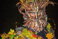 Retrato de la madre naturaleza en Halloween Imagen de archivo libre de regalías