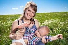 Retrato de la madre y del bebé Fotografía de archivo