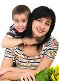 Retrato de la madre y del hijo Fotografía de archivo