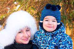 Retrato de la madre y del hijo Fotos de archivo