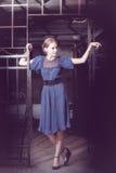 Retrato de la manera de la mujer elegante hermosa Foto de archivo