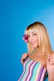 Retrato de la manera de un blonde hermoso Fotografía de archivo
