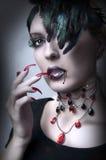 Retrato de la manera del vamp de la señora imagen de archivo libre de regalías
