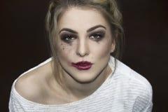 Retrato de la manera de la mujer hermosa joven Fotos de archivo libres de regalías