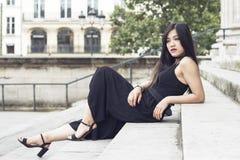 Retrato de la manera de la mujer hermosa joven Fotografía de archivo