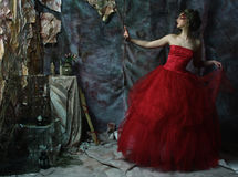 Retrato de la moda de la muchacha hermosa romántica imagenes de archivo