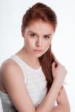 Retrato de la moda de una muchacha hermosa Imagen de archivo libre de regalías