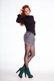 Retrato de la moda de una muchacha hermosa Fotos de archivo libres de regalías