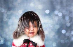Retrato de la moda del bebé foto de archivo