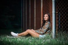 Retrato de la moda del estilo de pelo de la muchacha del adolescente de la mujer Fotografía de archivo