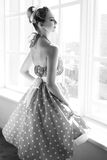 Retrato de la moda del estilo del vintage Fotografía de archivo libre de regalías