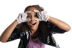 Retrato de la moda del niño de la muchacha Gafas de sol Imagen de archivo libre de regalías