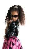 Retrato de la moda del niño de la muchacha Gafas de sol Fotografía de archivo libre de regalías