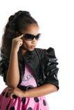 Retrato de la moda del niño de la muchacha Gafas de sol Imagen de archivo