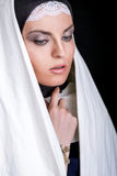 Retrato de la monja hermosa joven Imagen de archivo libre de regalías