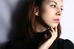 Retrato de la muchacha. Imagen de archivo libre de regalías