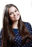 Retrato de la muchacha adolescente del tamaño extra grande hermoso Imagen de archivo libre de regalías