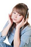 Retrato de la muchacha - adolescente en estudio Imagen de archivo libre de regalías