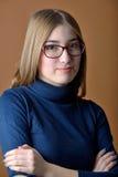 Retrato de la muchacha adolescente hermosa foto de archivo