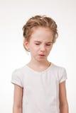 Retrato de la muchacha adolescente hermosa con una cara repugnante Fotografía de archivo libre de regalías