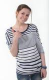 Retrato de la muchacha adolescente sonriente Imagen de archivo