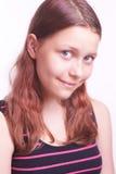 Retrato de la muchacha adolescente sonriente feliz Foto de archivo