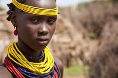 Retrato de la muchacha africana foto de archivo libre de regalías