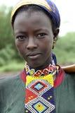 Retrato de la muchacha africana Imagenes de archivo