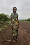 Retrato de la muchacha africana Imágenes de archivo libres de regalías
