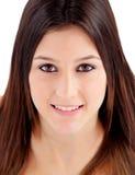 Retrato de la muchacha atractiva con los ojos marrones Foto de archivo