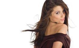 Retrato de la muchacha atractiva hermosa imagen de archivo
