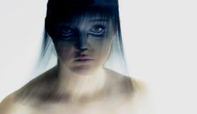 Retrato de la muchacha con la franja Fotografía de archivo libre de regalías