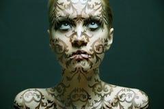 Retrato de la muchacha con maquillaje fotos de archivo